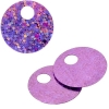 Sequins Hologram 20mm 4mm Hole Round Pink